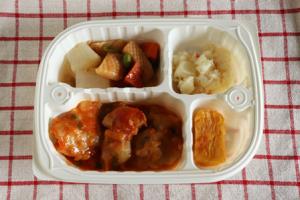 鶏のスパイス炒め弁当①