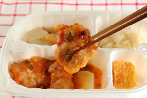 鶏のスパイス炒め弁当②