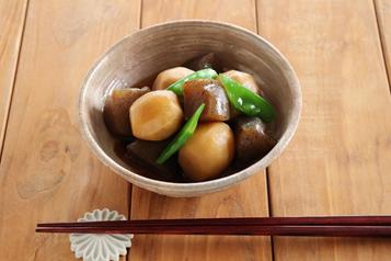 レシピ|里芋とこんにゃくの甘辛煮