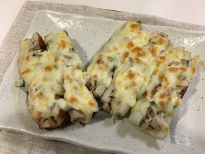 ちくわのチーズ焼き