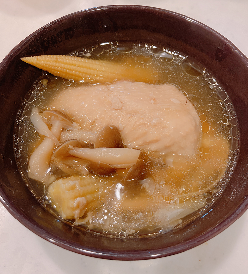 鶏肉のとろとろスープ
