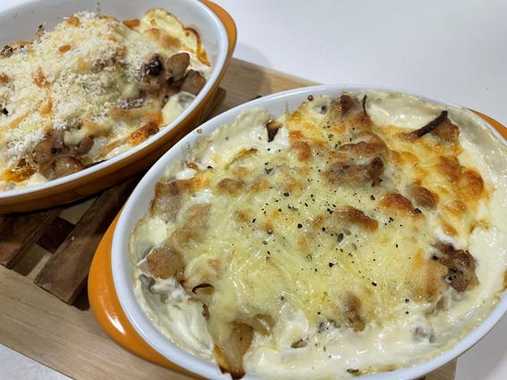 ポテトとチキンのクリームグラタン