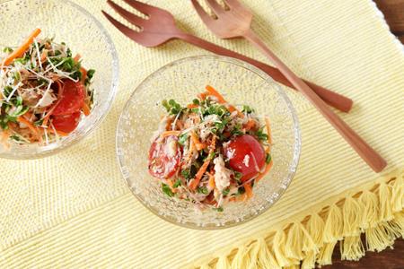 ブロッコリースプラウトとツナのサラダ