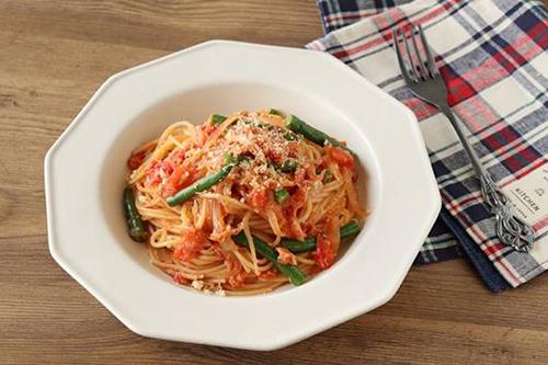 レシピ ツナといんげんのトマトパスタ